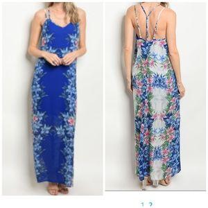 NWT S-TWELVE Hawaiian Print Maxi Sun Dress
